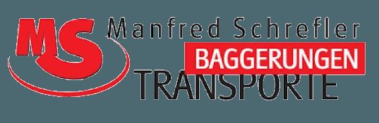 Das Logo des Sponsors Manfred Schrefler Bagerungen