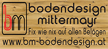 Das Logo der Firma Bodendesign Mittermayr: Fix wie nix auf allen Belägen